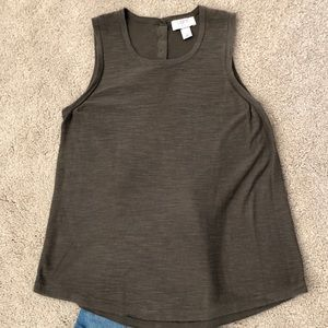 Olive Loft tank top with buttons